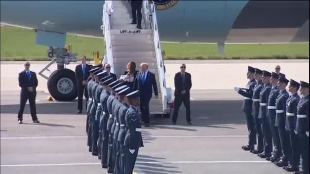 Trump llega a Londres para su visita de Estado
