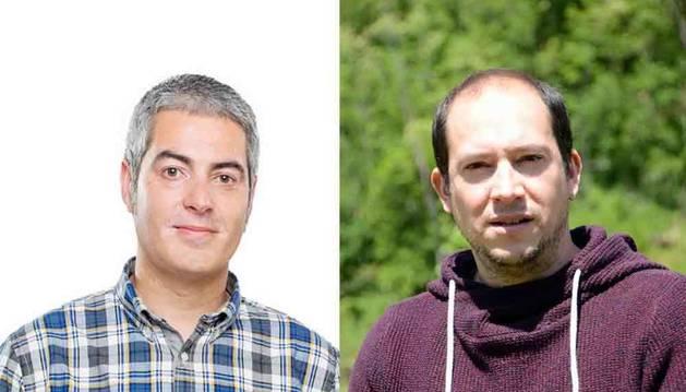 De izda. a dcha., Rubén Ziganda y Joseba Moreno.
