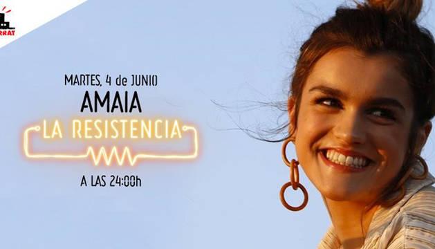 Amaia Romero visita esta noche el programa 'La Resistencia'