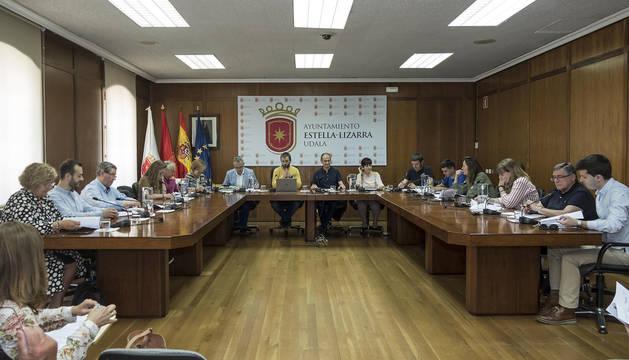 Pleno celebrado este jueves a las 13 horas en Estella, el último de la legislatura con los corporativos ya en funciones.