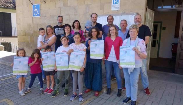 Foto de la presentación del Día del Medioambiente en Mendigorría.