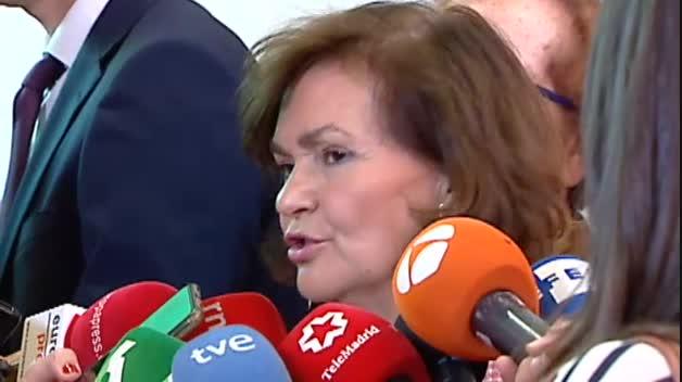 """Carmen Calvo: """"El PSOE tiene unos principios y unos límites a los que no llegamos"""""""