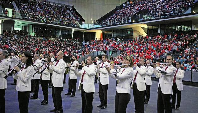Fotos del concierto de La Pamplonesa en el Navarra Arena ante 7.000 escolares de 32 colegios