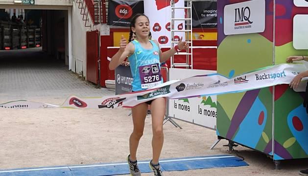 Ganadora de la carrera de 5 kilómetros de la San Fermín Marathon.