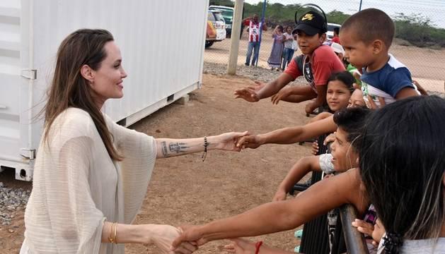 Jolie destaca la respuesta humanitaria de Colombia ante el éxodo de venezolanos