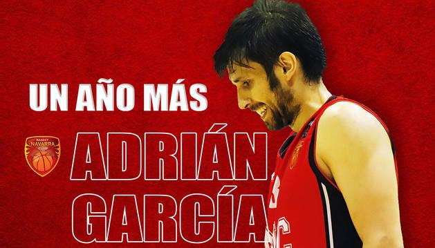 foto de Renovación del alero Adrián García con Basket Navarra