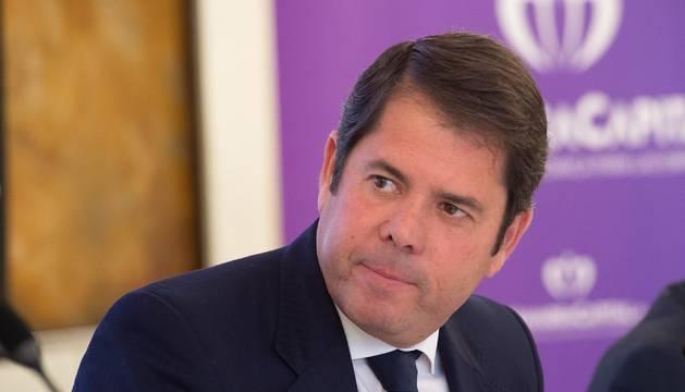 foto de El presidente de CEPYME, Gerardo Cuerva, en una jornada empresarial celebrada en Pamplona.