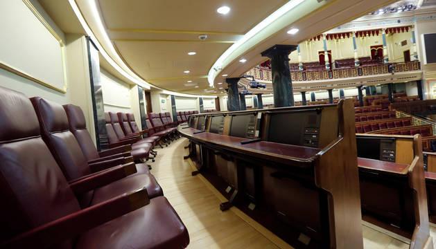foto de Vista de la última fila de escaños en el hemiciclo del Congreso, zona conocida como el gallinero.