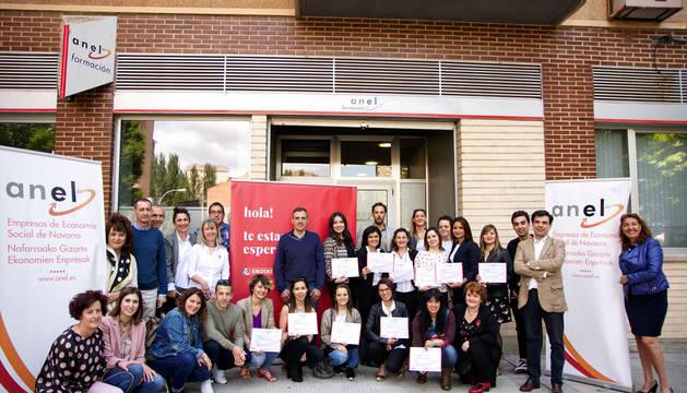 Foto de los participantes e implicados en el programa 'Promociono Contigo'.