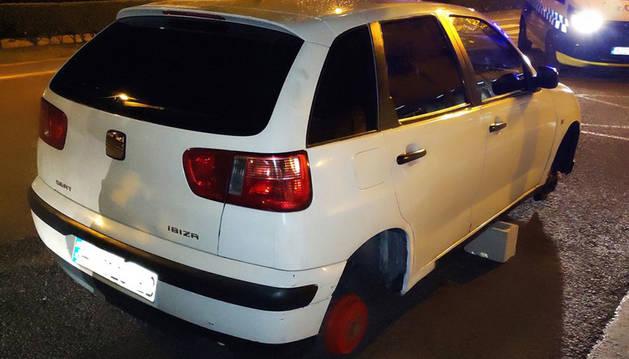 Foto del coche, publicada por Policía Municipal.