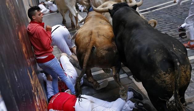 Fotos de Diario de Navarra de los mejores momentos de los encierros de San Fermín de 2018