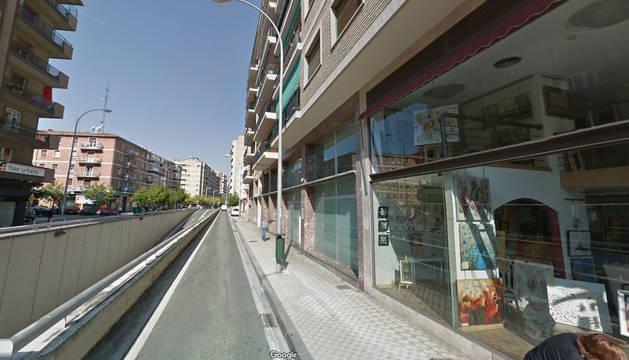 Atropellado un niño por una bicicleta en una acera de la calle Erletoquieta en Pamplona