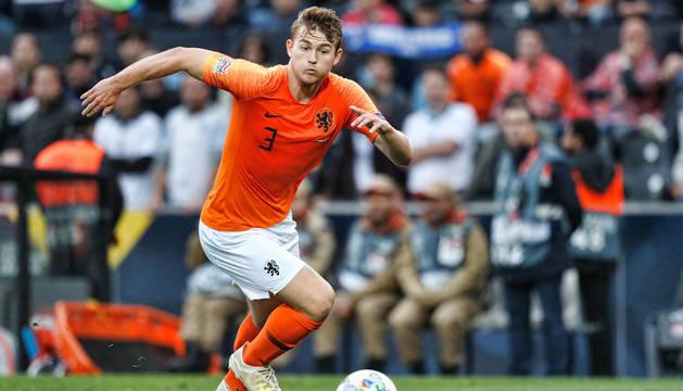 foto de Matthijs de Ligt con la selección holandesa en la final de la UEFA Nations League