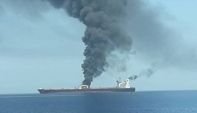 Durante el ataque a un petrolero en Omán