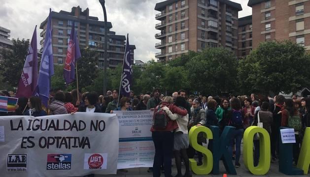 Cientos de personas, ante el TSJN, este viernes para arropar a responsables de Skolae