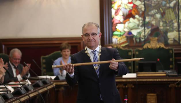 Enrique Maya, tras ser nombrado alcalde.