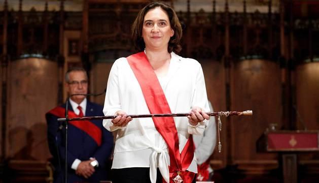 Ada Colau, tras su nombramiento como alcaldesa de Barcelona.