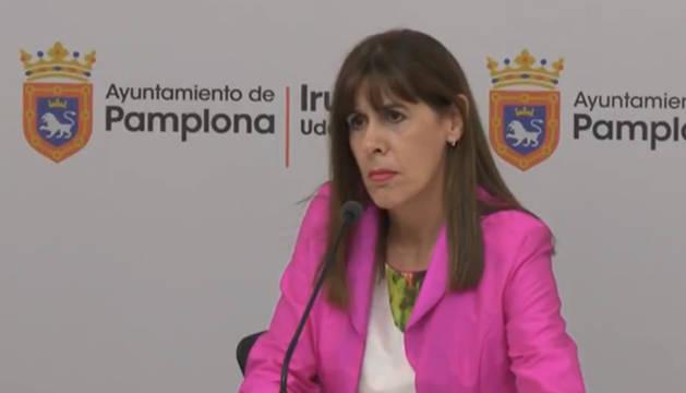 Maite Esporrín, durante su comparecencia.