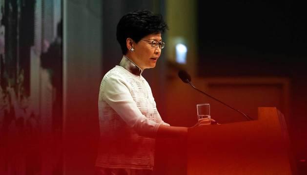 La jefa ejecutiva de Hong Kong, Carrie Lam.