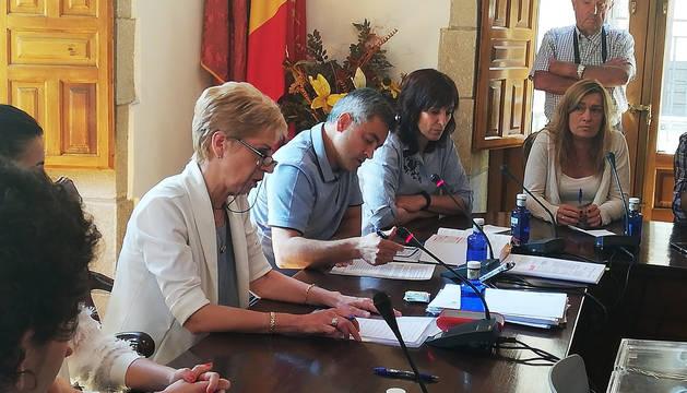 Pleno de investidura en Viana.