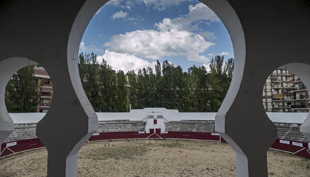 Foto de la plaza de toros de Estella del pasado jueves.