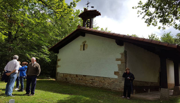Foto de la ermita de San Adrián, de Etxarri Aranatz.