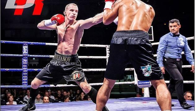 Artem Sukhanov, boxeador profesional ruso afincado en Navarra, será protagonista de la velada.