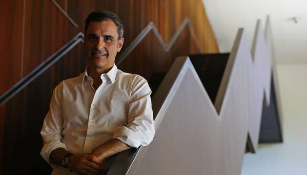 Iñaki Ariztimuño Olagüe, este martes, en el Baluarte de Pamplona, donde participa en Conecta Fiction