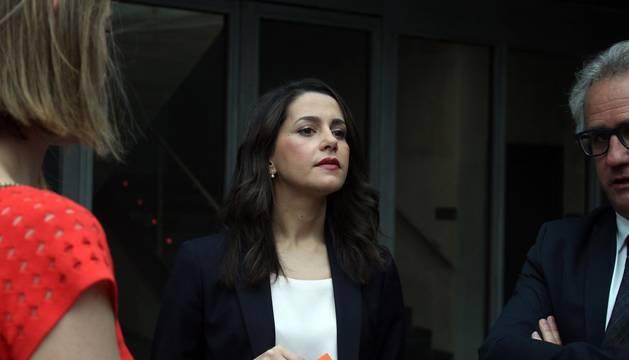 Inés Arrimadas, en la constitución del Parlamento de Navarra.