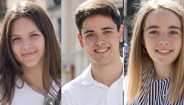 Los 3 estudiantes riberos que han obtenido la mayor nota en los 3 centros tudelanos.