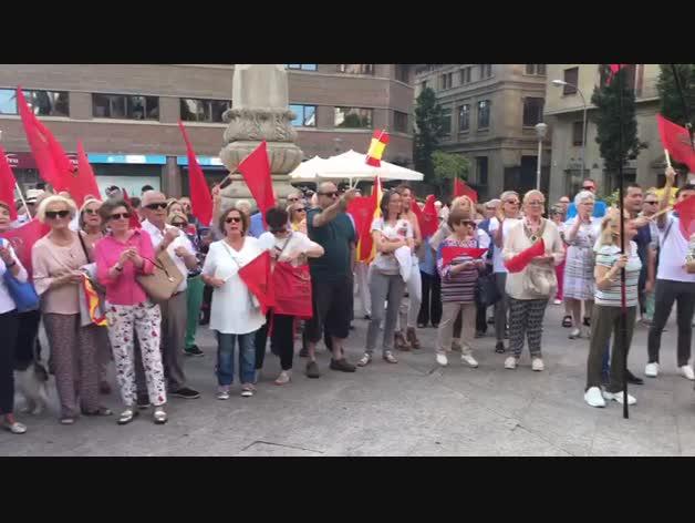 Concentración contra la política del PSN en Pamplona