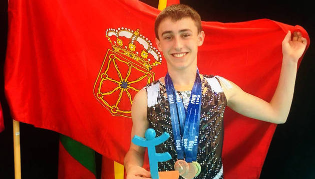 Ander Olcoz, feliz tras su participación en Palma de Mallorca.