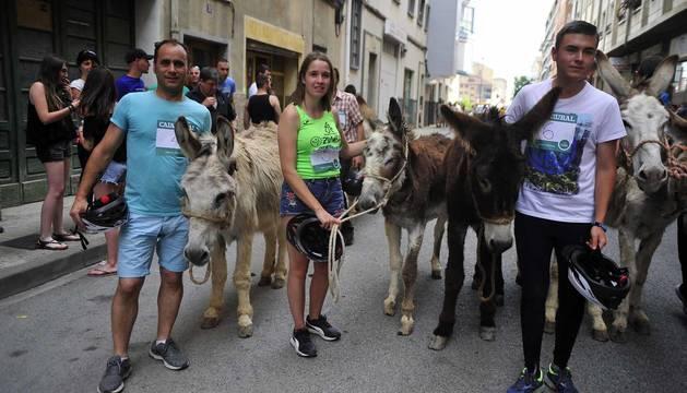 Fotos de la Undécima carrera sobre burros de Tafalla