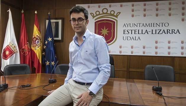 Gonzalo Fuentes Urriza, en el salón de plenos en el que fue nombrado alcalde el pasado 15 de junio.