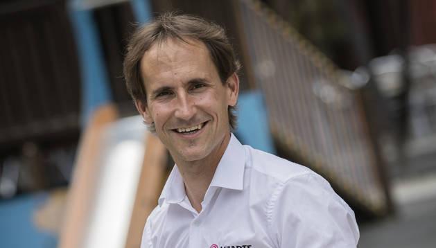 Juanjo Oroz, director deportivo del Lizarte, tras su regreso del Giro de Italia sub-23.