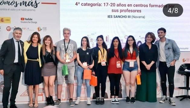 Los alumnos recogieron el premio en un acto al que asistieron el ministro Grande Marlaska y la ministra Dolores Delgado.