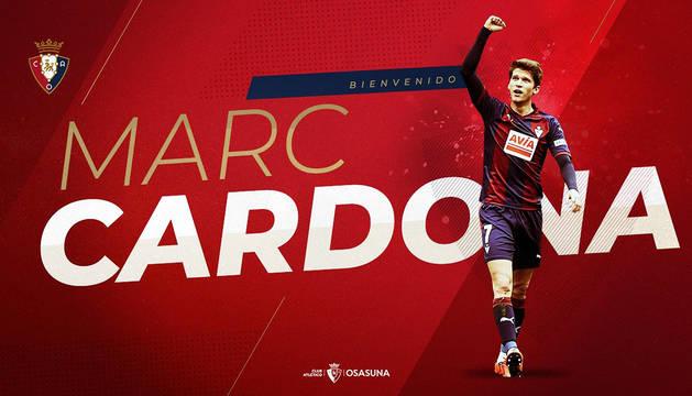 Marc Cardona, nuevo delantero del C.A. Osasuna.