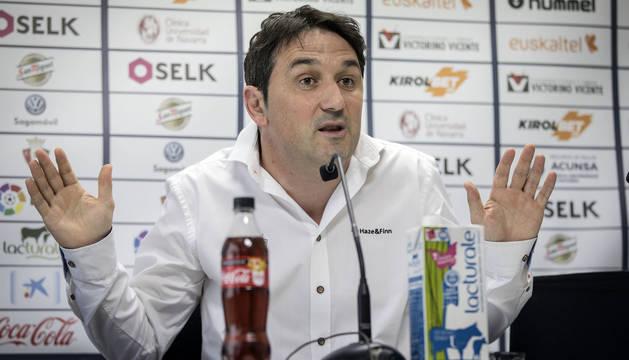 El director deportivo de Osasuna, Braulio Vázquez.