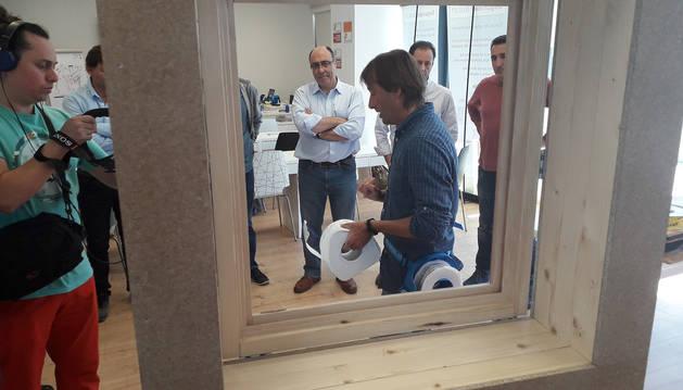 Foto de la visita de promotores y arquitectos chilenos a Pamplona.