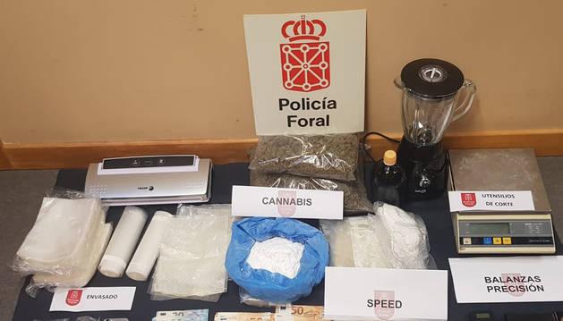 Desarticulado un punto de venta de drogas en un taller mecánico de Tudela