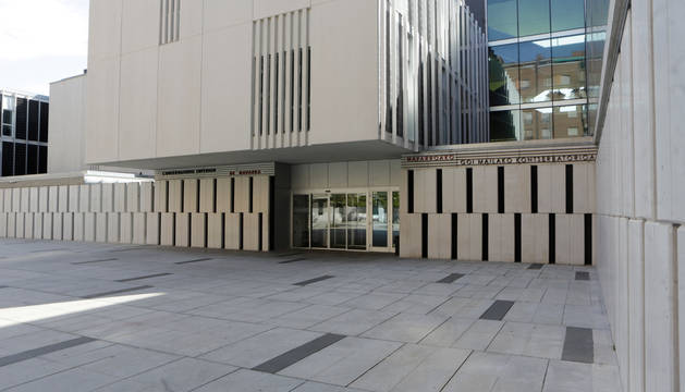 La entrada del Conservatorio Superior de Navarra, donde han transcurrido la mayor parte de las pruebas.
