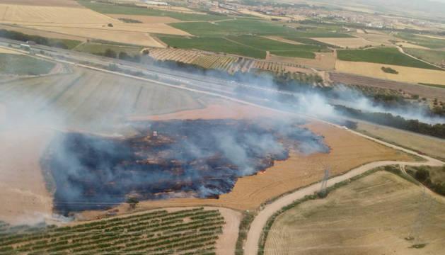 Fotografía aérea del incendio.