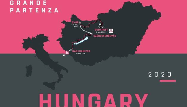 Foto promocional de la salida del Giro 2020.