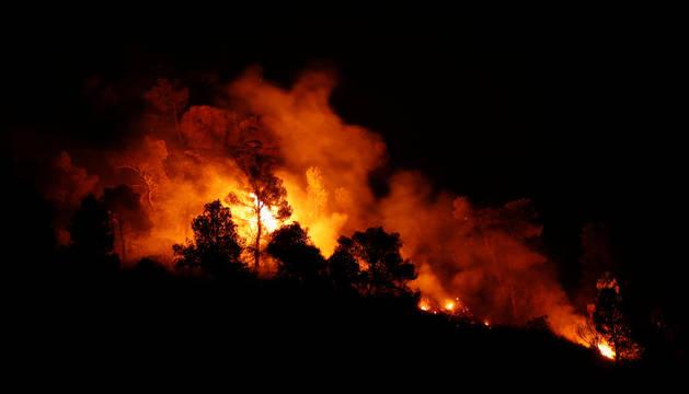 Foto del incendio de Ribera d'Ebre, en Tarragona, uno de los peores incendios de los últimos 20 años en Cataluña.