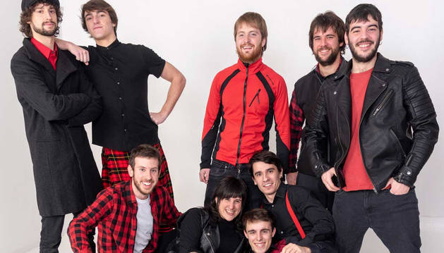 Los integrantes del grupo navarro Bastardix.