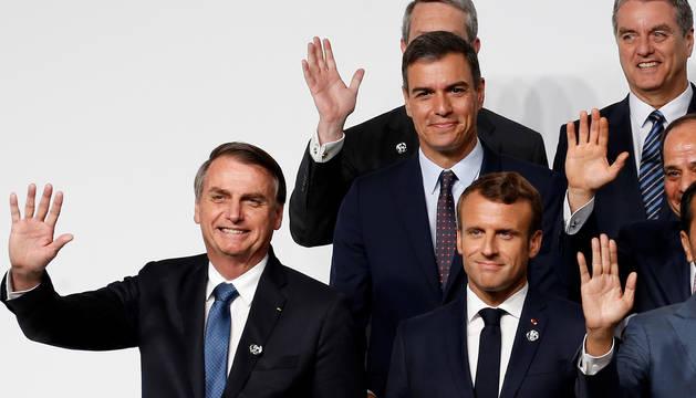 Pedro Sánchez, junto al resto de líderes en la cumbre del G20.