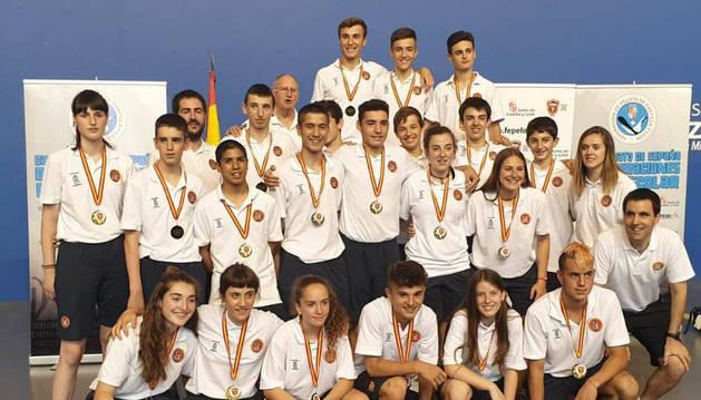 foto de La expedición navarra alcanzó siete de las ocho finales del Campeonato de España de Edad Escolar.