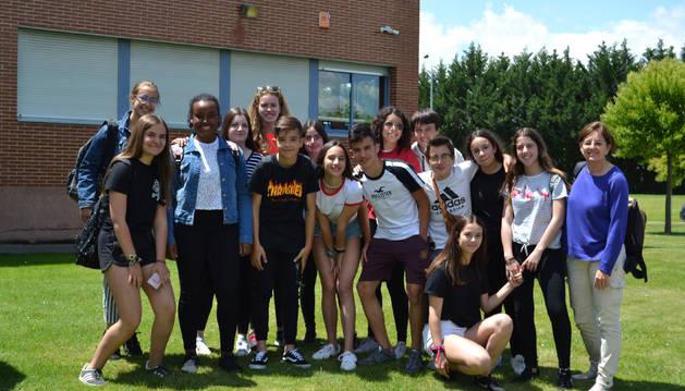 Alumnos de 2º curso de la ESO del IES Ega que participaron en el intercambio con el instituto alemán.
