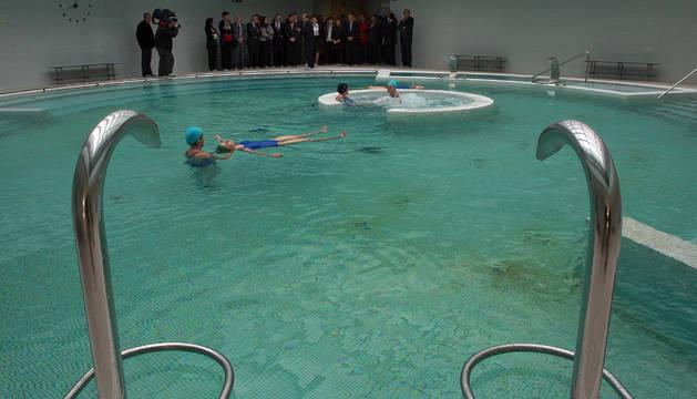 La imagen corresponde al día de la inauguración del balneario, en octubre de 2009.