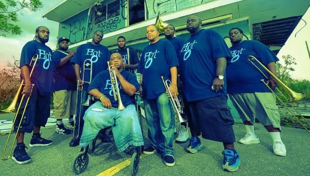 La banda de Nueva Orleans Hot 8 Brass Band.